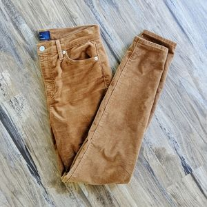 Gap corduroy tan high rise leggings